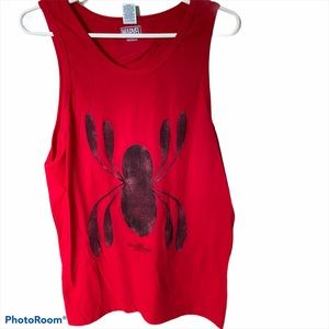NWOT Marvel Spiderman Homecoming graphic tank top
